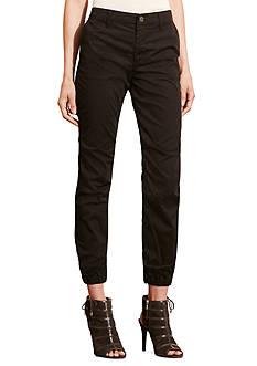 Lauren Jeans Co. Twill Tapered-Leg Pants