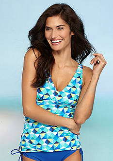 Kim Rogers Tropical Multi Shirred Tankini
