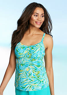 Kim Rogers Watercolor Palm Peasant Tankini