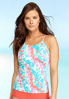 Kim Rogers Cancun Animal High Neck Tankini