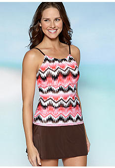 Kim Rogers High Neck Tankini With Removable Soft Cups