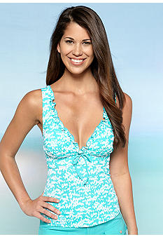 Kim Rogers Pin Dot Over The Shoulder Tankini