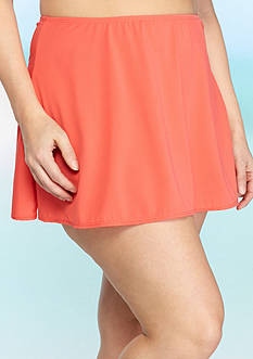 Kim Rogers Plus Size Solid Skirted Bottom