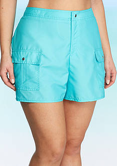 Kim Rogers Plus Size Solid Board Shorts