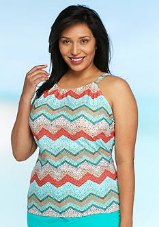 Kim Rogers Plus Size Sea Cliff High Neck Tankini