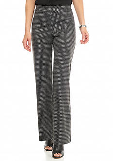 New Directions Patterned Knit Wide Leg Pants