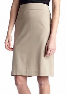New Directions Bi- Stretch Solid Skirt