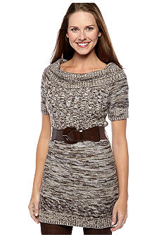 ND® New Directions Marled Marilyn Neck Belted Tunic - Belk.c