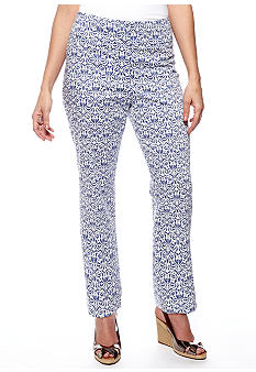 New Directions Print Ankle Pant