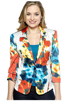 New Directions Printed Blazer