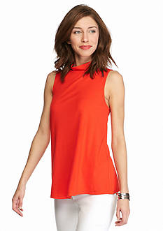 New Directions Solid Sleeveless Trapeze Top