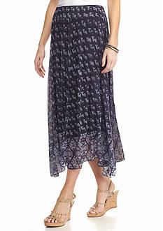 New Directions Mesh Hanky Hem Skirt
