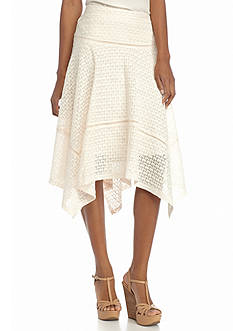 New Directions Lace Hanky Hem Skirt