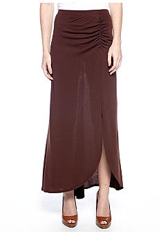 New Directions Solid High Low Skirt