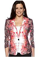 New Directions® Floral Mirror Jacket