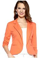 New Directions® Solid French Terry Blazer Style Jacket