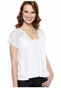 New Directions Crochet Back Tie Sleeve Shrug