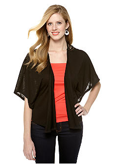 New Directions Slub Dolman Sleeve Cardigan