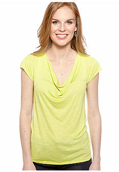 New Directions Bar Back Drape Neck Top
