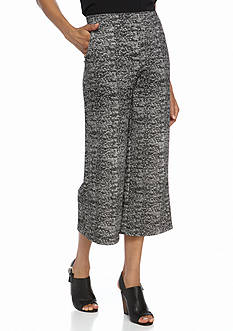 New Directions Patterned Knit Crop Pants