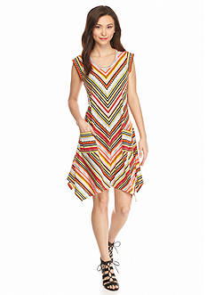 New Directions Petite Stripe Print Dress
