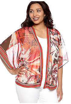 New Directions Plus Size Sheer Cardigan