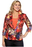 New Directions® Plus Size Watercolor Floral Print Blazer