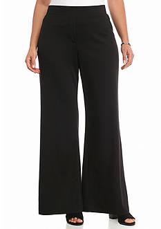 New Directions Plus Size Wide Leg Ponte Pants