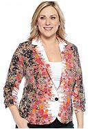 New Directions® Plus Size Floral Print Mirror Jacket