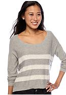 Romeo & Juliet Couture Lace Stripe Sweater