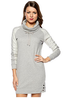 Romeo & Juliet Couture Funnel Neck Fleece Dress