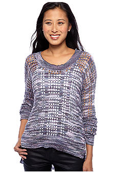 Romeo & Juliet Couture Open Weave Marbled Sweater