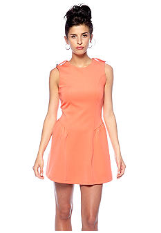 Romeo & Juliet Couture Fit and Flare Zip Dress