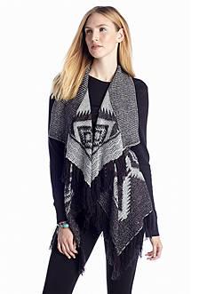 Romeo & Juliet Couture Printed Drape Vest