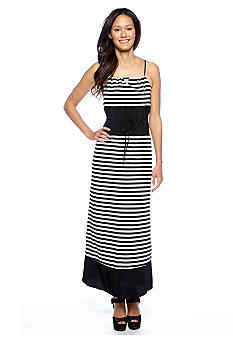 Romeo & Juliet Couture Horizontal Stripe Maxi Dress