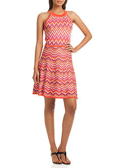 TRINA Trina Turk Blakely Chevron Dress