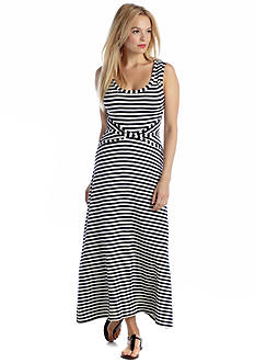 Willow and Clay Striped Maxi Dress