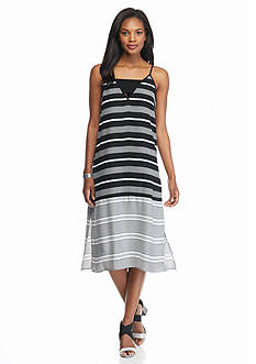 Matty M Stripe Midi Dress