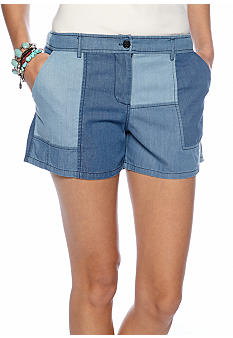 Patched Chambray Short