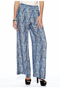 Willow and Clay Printed Wide Leg Pant