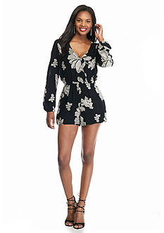 Willow and Clay Floral Embroidered Romper