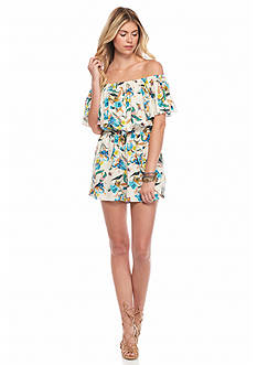Willow and Clay Ruffle Floral Romper