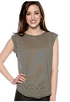 Willow and Clay Sheer Back Stripe Front Top