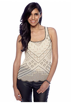 Willow and Clay Sleeveless Embellished Top