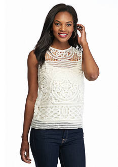 Willow and Clay Lace Shell Tank