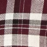 Willow and Clay: Wine Willow and Clay Fringe Plaid Shirt