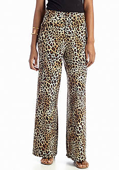New Directions® Animal Print Palazzo Pant
