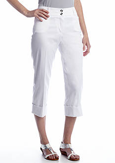 New Directions® Prive Slim Cuff Crop Pant