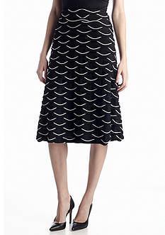 New Directions® Scallop A-Line Skirt
