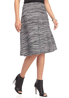 New Directions Space Dye Wavy Knit Skirt